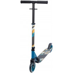 Nijdam FOLDABLE Scooter black - aqua 200mm URBAN RIDER 200