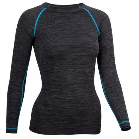 AVENTO SUPERIOR Ισοθερμική Γυναικεία Μακρυμάνικη Μπλούζα Μαύρη