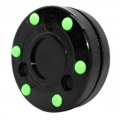 Green Biscuit Roller Hockey puck-Blister