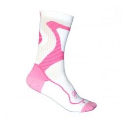 FR - Nano Sport Socks - White/Pink