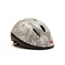Kids white grey helmet
