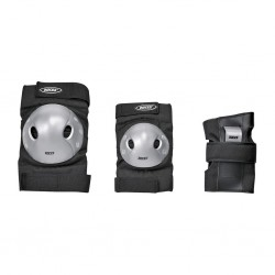 Roces EXTRA THREE-PACK BLACK/GREY protective adult