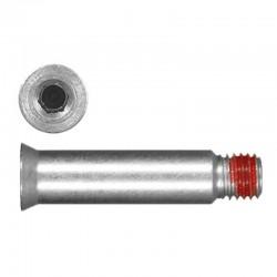 Seba άξονας AXLE FOR FRAME 34.5 Silver DELUXE/R1 X1
