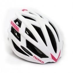 Roxa κράνος ενηλίκων CITY άσπρο/ροζ
