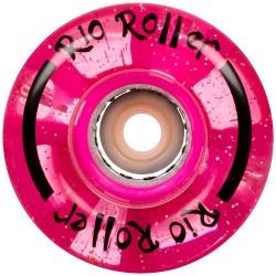 Rio Roller Light Up Quad Skate Ρόδες GLITTER 54mm 82A ροζ x4