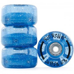 Rio Roller Light Up Quad Skate Ρόδες GLITTER μπλε 54mm 82A x4