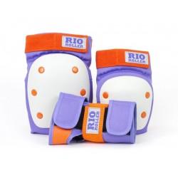 Rio Roller σετ X 3 Προστατευτικά Ενηλίκων Μωβ/ Πορτοκαλί