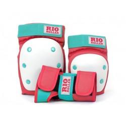 Rio Roller σετ X 3 Προστατευτικά Ενηλίκων Κόκκινο/ Μέντα