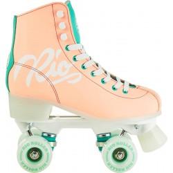 RIO Roller quad skates SCRIPT peach/green