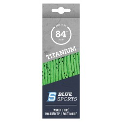 Blue Sports Titanium Pro Laces Waxed Lime Green