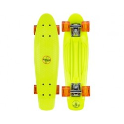 Plastic Skateboard 22.5 Led LIme